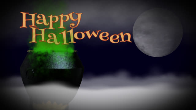 Happy Halloween seamless loop greeting