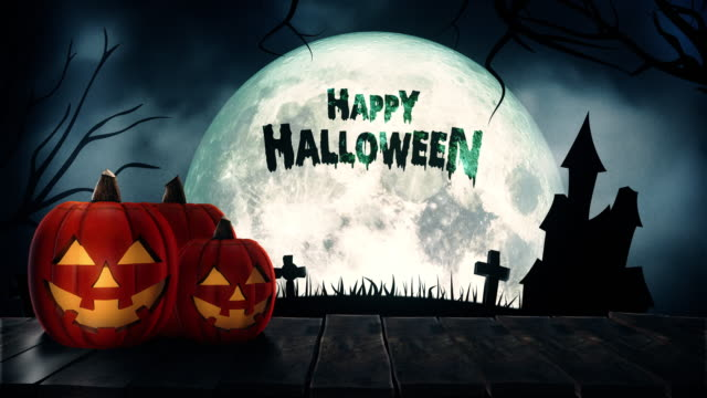 Happy Halloween Text and Background