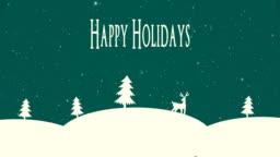 4K Happy Holidays Animation
