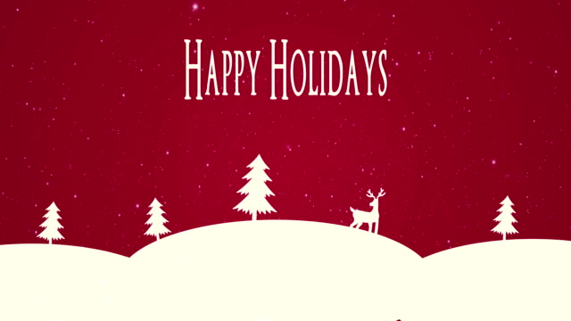 4k happy holidays animation - greeting card stock videos & royalty-free footage