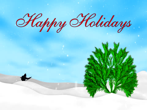 happy holidays animation - happy holidays stock videos & royalty-free footage