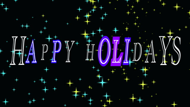 happy holidays background loop - happy holidays stock videos & royalty-free footage