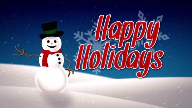 happy holidays card - happy holidays stock videos & royalty-free footage