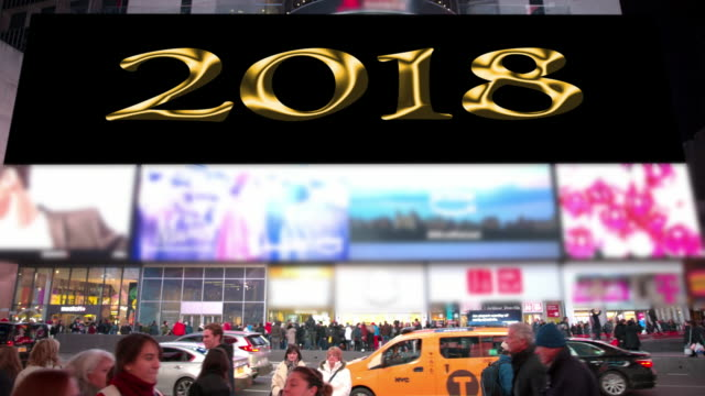 happy holidays count down new year new york times square - happy holidays stock videos & royalty-free footage