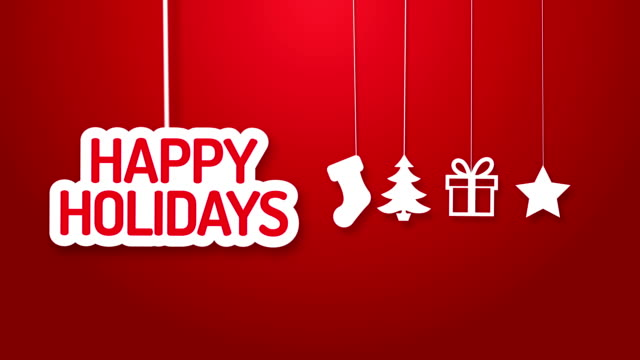 happy holidays hanging on a wire - happy holidays stock videos & royalty-free footage