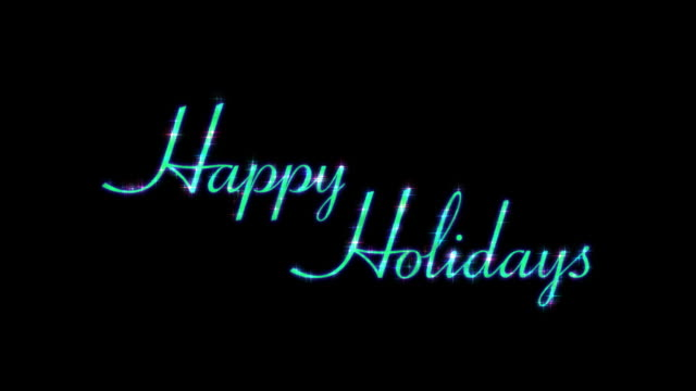 Happy Holidays HD-Text-Element mit Alpha-Kanal