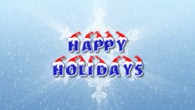 happy holidays holiday snowflake greeting. - happy holidays stock videos & royalty-free footage