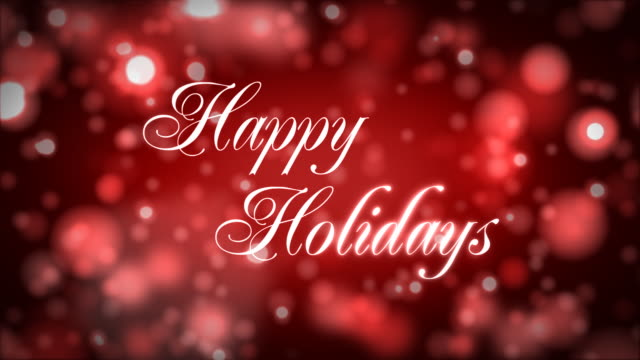 happy holidays on red - happy holidays stock videos & royalty-free footage