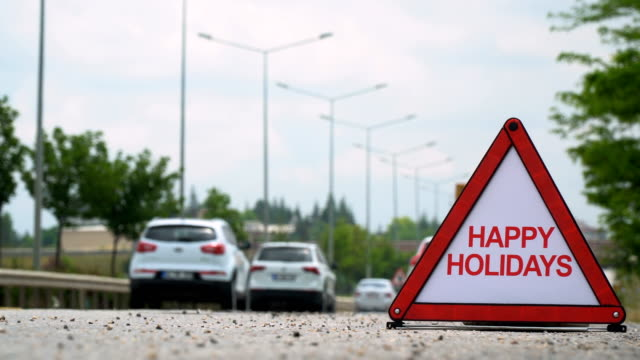 happy holidays - traffic sign - happy holidays stock videos & royalty-free footage