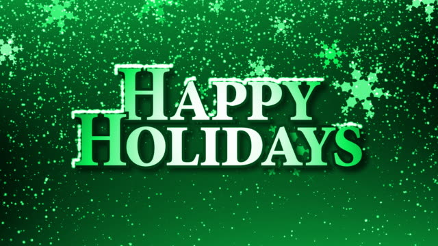 happy holidays with snow (hd loop) green - happy holidays stock videos & royalty-free footage