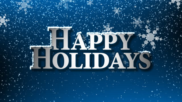 happy holidays with snow (hd loop) - happy holidays stock videos & royalty-free footage