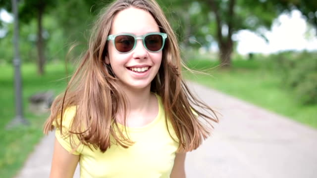 happy in the park - pre adolescent child stock videos & royalty-free footage