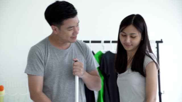 happy is a clean home. - metrosexual stock videos & royalty-free footage
