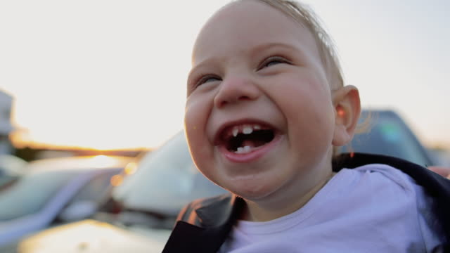 happy kid smiling - one baby boy only stock videos & royalty-free footage