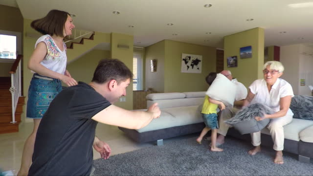 happy lifetime moments at home, family loving his sons - back to school stock videos and b-roll footage