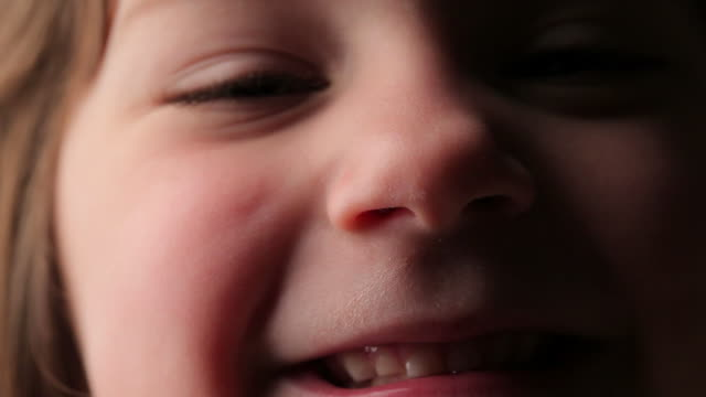 happy little girl - human nose stock videos & royalty-free footage