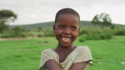Happy Maasai girl