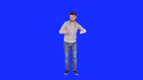 happy man dances like he is a robot - full length stock videos & royalty-free footage