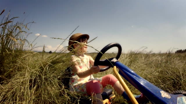 Happy Memories Of Her Young Days- A Child of Tree Drive Go-chart, Off-Road