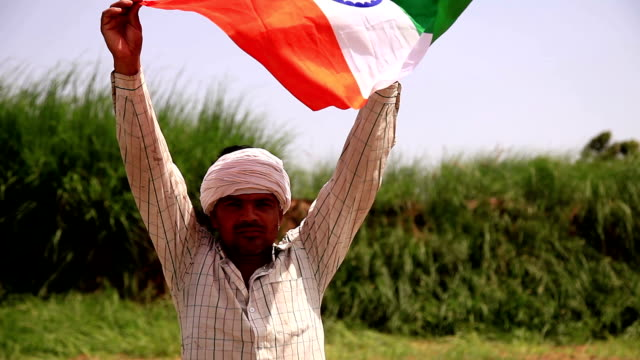 happy men carrying national flag in his hand - unity stock videos & royalty-free footage