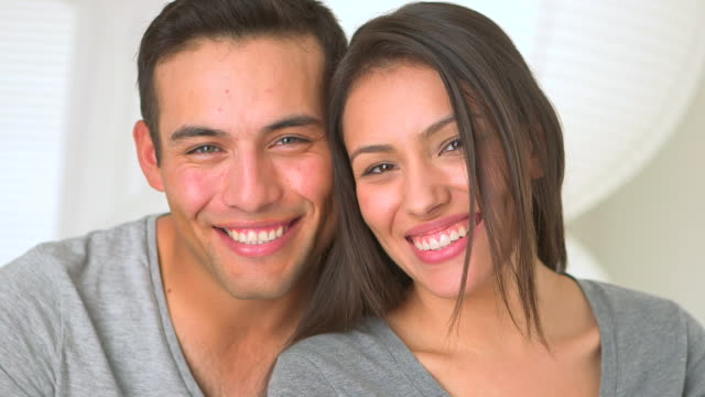 happy mexican couple smiling - mexican ethnicity stock videos & royalty-free footage
