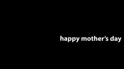 4k happy mother's day animation - black background - mother's day stock videos & royalty-free footage