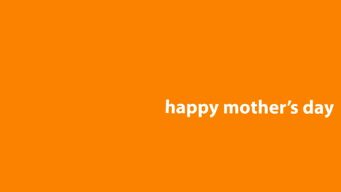 4k happy mother's day animation - orange background - mother's day stock videos & royalty-free footage