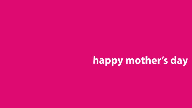 4k happy mother's day animation - pink background - mother's day stock videos & royalty-free footage
