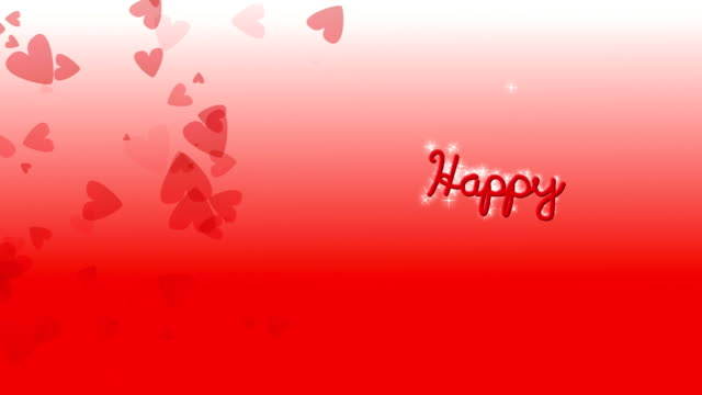 happy mothers day red hearts - western script stock videos & royalty-free footage