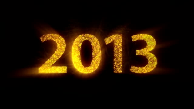 happy new year 2013 - 2013 stock videos & royalty-free footage