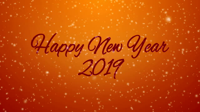 happy new year 2019 - new year card stock videos & royalty-free footage