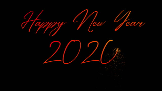 happy new year 2020 animated lettering - world title stock videos & royalty-free footage