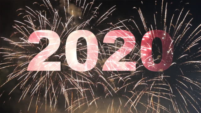 happy new year 2020 firework - new year's eve stock videos & royalty-free footage