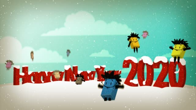 happy new year 2020 - new year card stock videos & royalty-free footage