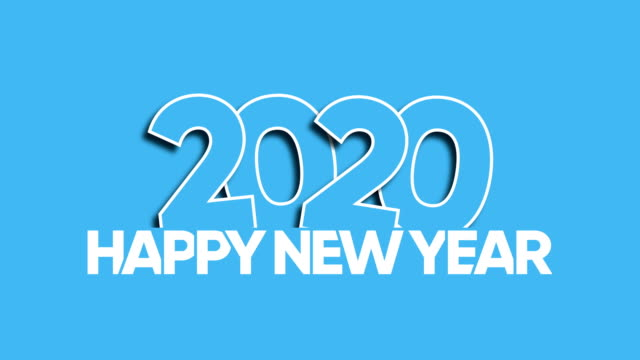 happy new year 2020 - capital letter stock videos & royalty-free footage