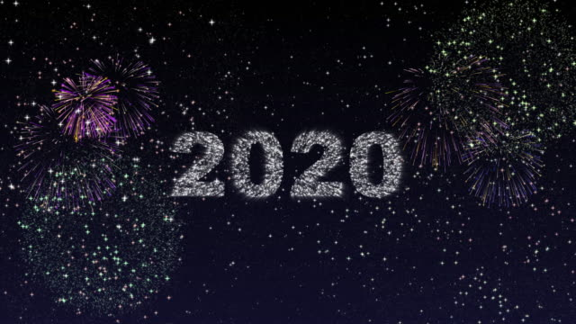 happy new year 2020 with fireworks - countdown stock videos & royalty-free footage