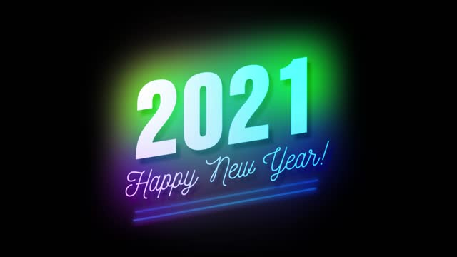 4k happy new year 2021, text card and bright magic particles sparks for night celebration, wishes, events, message, holiday, festival - new year card stock videos & royalty-free footage