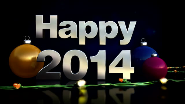Happy New Year, 2014,3D animation loopable