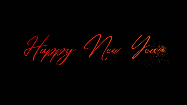 happy new year animated lettering - world title stock videos & royalty-free footage