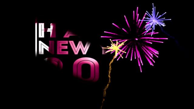 Happy New Year kleurrijke transparant