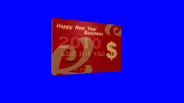 happy new year credit card stock footage video getty images