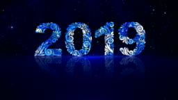 2019 Happy New Year Draw Pattern
