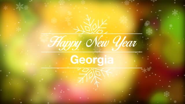 vídeos y material grabado en eventos de stock de feliz año nuevo georgia - georgia estado de eeuu