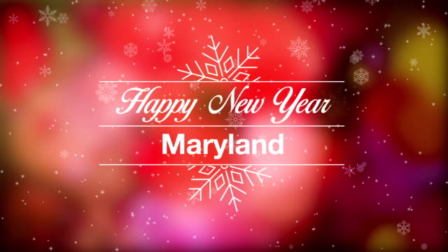 vídeos de stock e filmes b-roll de happy new year maryland - maryland estado
