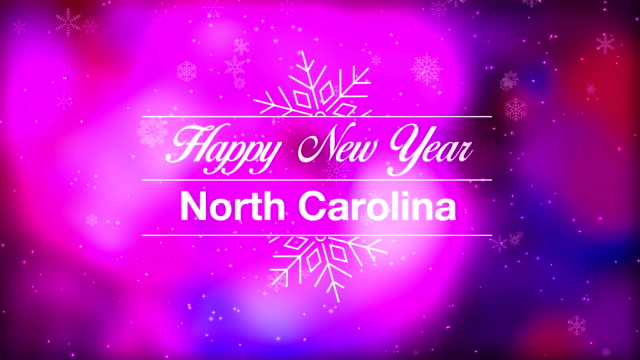 happy new year north carolina - carolina del nord stato usa video stock e b–roll
