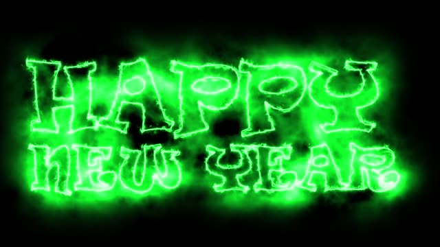 vídeos de stock e filmes b-roll de happy new year text, backdrop, computer generating, can be used for holidays festive design - cartão de ano novo