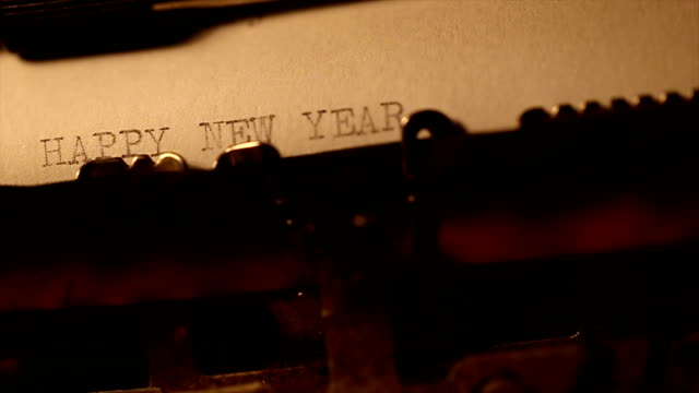 'happy new year' typed using an old typewriter - author stock videos & royalty-free footage