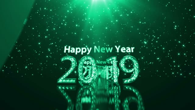 2019 happy new year - christmas poster stock videos & royalty-free footage