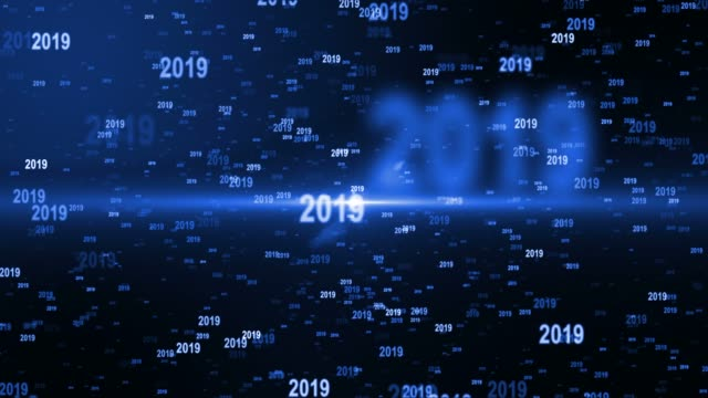 2019 happy new year - 2019 stock videos & royalty-free footage