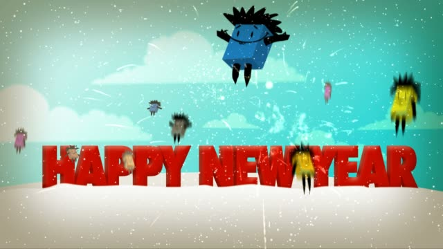 happy new year - new year card stock videos & royalty-free footage